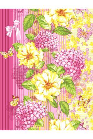 Вафельное полотенце Цветник - 50*70