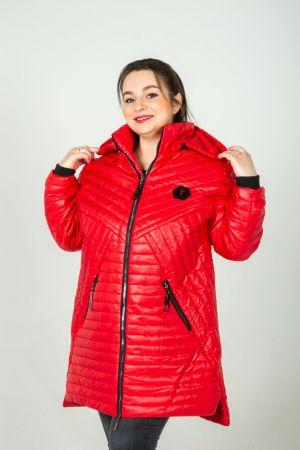 Куртка демисезонная с утеплителем №6079, р. 60-70
