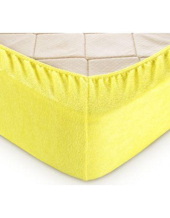 Махровая простыня на резинке Желтый